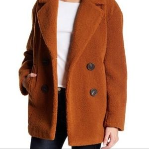 French Connection Teddy Bear Faux Fur Coat
